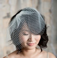 I like the double layer bird cage veil