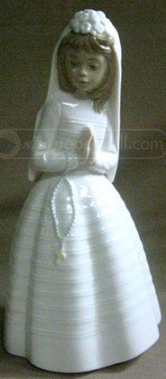 shopgoodwill.com: NAO Lladro Porcelain Confirmation Girl Figurine