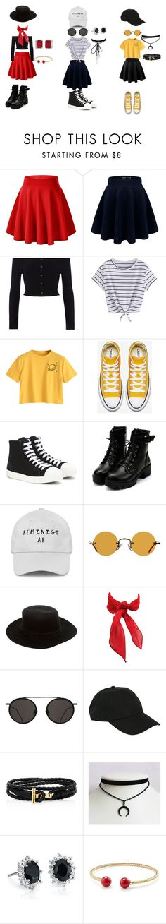 """Pick Three- Skater Skirt"" by ashley-ann2002 ❤ liked on Polyvore featuring LE3NO, River Island, Prada, Hakusan, Janessa Leone, Hot Topic, Blue Nile and David Yurman"