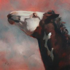 """Daily Paintworks - """"Mustang Dare"""" - Original Fine Art for Sale - © Pamela Poll"""