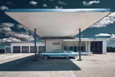 'Classic II' © by Nick Frank. A near-perfect architectural landscape ruined by a lowrider. :grumble: