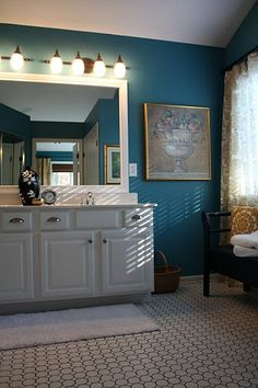 master bath finished 3 love that blue color!!