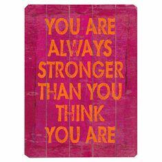 FORTALEZA: Ser fuerte en todos los sentidos: personal, mental y sentimental. Se que soy una persona fuerte y puedo sobrellevar cualquier cosa que me suceda.