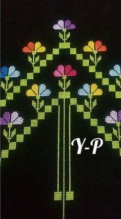 This Pin was discovered by şen Cross Stitch Borders, Cross Stitch Flowers, Cross Stitch Designs, Cross Stitching, Cross Stitch Patterns, Cross Stitch Tattoo, 3d Tattoos, Hand Art, Yarn Shop