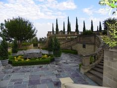 Image detail for -... Photo of Garden of Greystone Mansion in Beverly Hills, California