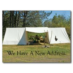 Change of Address Card - Tent Post Cards (pinned by haw-creek.com)