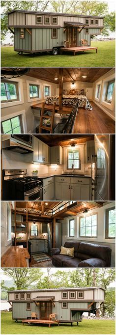 """The Timbercraft Retreat Is a Stunning Luxury Tiny House - Timbercraft Tiny Homes is quite a talented team. Previously, we've featured a couple of their creations, including the Blueridge and this one, which I believe is called the Ynez (at the time I posted it, it was the company's flagship home). Since then, the company has been quite busy crafting more genius tiny houses, so let's take a look at one of the most magnificent homes to date—the luxury """"Retreat."""" #luxurytinyhouse"""
