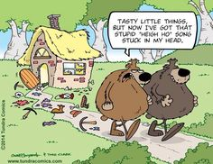 """Tasty little things, but now I've got that stupid """"Heigh Ho"""" song stuck in my head."""