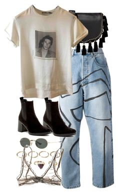 """""""Untitled #10904"""" by nikka-phillips ❤ liked on Polyvore featuring James Long, Rebecca Minkoff, Dolce&Gabbana, Topshop, Forever 21 and Ray-Ban"""
