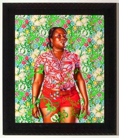 Kehinde Wiley - Portrait of Anesha Broderick
