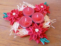 Ayani art: quilled candle holder Quilling Patterns, Quilling Designs, Paper Quilling, Mason Jar Candle Holders, Candle Stand, Mason Jars, Quilling Christmas, Christmas Ornaments, Diwali Lights