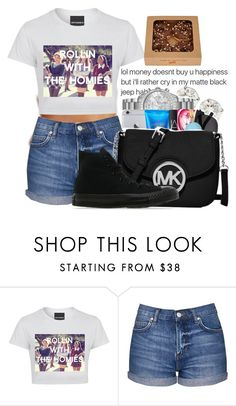 """""""Untitled #119"""" by monochramatic ❤ liked on Polyvore featuring Topshop and Converse"""
