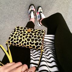 SANTE butterflies print sneakers #ootd (via: @elenagalifa) #SanteBloggersSpot Shop NOW: www.santeshoes.com