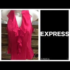EXPRESS• Sleeveless Top• This Top is Darling*• Color: Watermelon• V-neck• Zipper on the side• Like New Express Tops