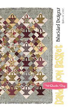 Dandelion Basket Quilt Pattern Blackbird Designs