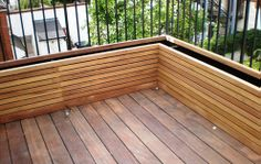 Contemporary garden planters made of wood – Essex UK, The Garden Trellis Company Short planters with ferns and subsequent Iroco grid over. – kai rucha - All About Balcony Planters, Wooden Garden Planters, Tiered Garden, Outdoor Planters, Outdoor Decor, Backyard Patio, Backyard Landscaping, Contemporary Planters, Patio Privacy