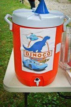 Cars Birthday Party. Dinoco Coolant