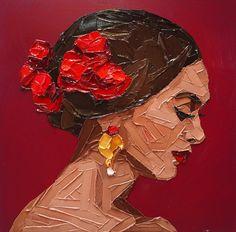 """Flamenca"" by Elena Gual (Undated) Art Inspo, Inspiration Art, Arte Bar, Art Espagnole, Palette Knife Painting, Art Et Illustration, Art Design, Art Sketchbook, Painting & Drawing"