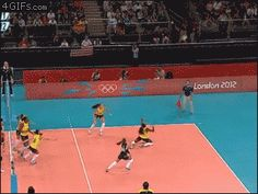 This is a save that Grace would make  Stunning Volleyball Save  Legal and Awesome!