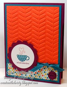 Stampin' Up! Patterned Occasions Card, Christy Fulk, SU! Demo