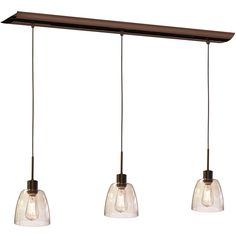 Buy the Dainolite Oil Brushed Bronze Direct. Shop for the Dainolite Oil Brushed Bronze Nostalgia 3 Light Wide Linear Pendant with Vintage Edison Bulbs and save. Decor, Dainolite, Kitchen And Bath Lighting, Filament Design, Light Fixtures, Home Decor, Vintage Edison Bulbs, Pendant Light Shades, Pendant Lighting
