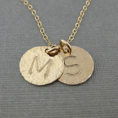Hand stamped GOLD Filled Initial Jewelry / by jcjewelrydesign, $49.00