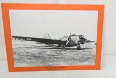 Vintage WWII Plane Picture and Statistics Doulgas D.B.-18 Digby American Bomber USA by KansasKardsStudio on Etsy