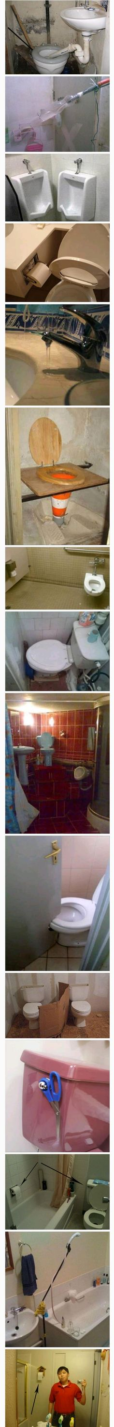 And the Plumber of the Year Award goes to. Funny Fails, Plumbing, Diy, Reading, Books, Bath, Humor, Libros, Bricolage