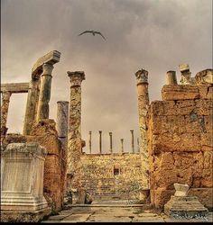The Roman Theatre !     Leptis Magna, Libya