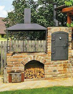 How Does Pergola Provide Shade Rustic Outdoor Kitchens, Outdoor Kitchen Patio, Rustic Backyard, Outdoor Kitchen Design, Backyard Patio, Backyard Smokers, Outdoor Smoker, Pizza Oven Outdoor, Outdoor Fire