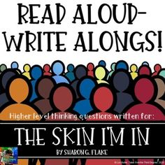 The Skin I'm In Read Aloud Write Along Distance Learning Frindle, Ela Classroom, Award Winning Books, Literature Circles, Book Study, Good Grades, New Teachers, Chapter Books, Writing Skills