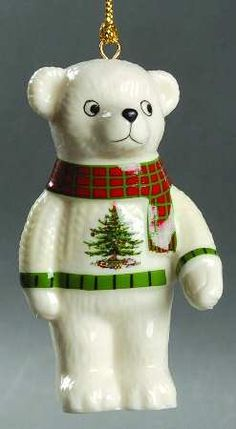 Spode Christmas Tree Ornament Teddy Bear *** To view further, visit now : Ornaments Home Decor