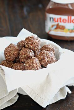 16. No-Bake Nutella Energy Bites #healthy #recipes #college http://greatist.com/eat/healthy-dorm-room-recipes