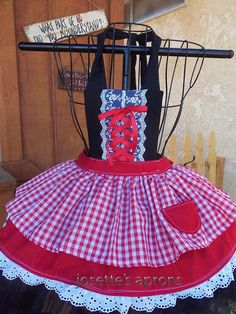 My little sweet heart red ridding hood child's by Josettesaprons Red Ridding Hood, Black Tutu, Kids Apron, Red Fabric, Cute Skirts, Halloween 2018, Red Ribbon, Little Red, Have A Great Day