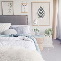 """Rupert Bedhead"" in washed linen styled by Michelle from Bask Interiors. Bedhead from Heatherly Design. Guest Bedrooms, Master Bedroom, Bedroom Styles, Beautiful Bedrooms, Home Decor Bedroom, Interior Design, Interior Stylist, Interior Ideas, Furniture"