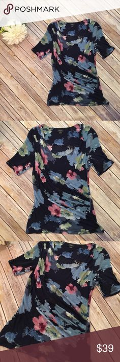 """Anthropologie Deletta Floral Top Anthro Deletta Floral Top.  In excellent condition!  Bust 32"""" Length 26"""" Anthropologie Tops"""
