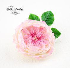 роза из полимерной глины, урок полимерная глина, лепка холодный фарфор