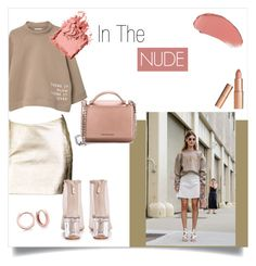 """""""In The Nude"""" by blingjewelry ❤ liked on Polyvore featuring MANGO, Versace, Boohoo, Givenchy, Bobbi Brown Cosmetics and Charlotte Tilbury"""