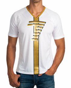 Camisetas Armani EA7 ® Blanco & Dorado | ENVIO GRATIS