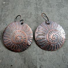 Etched earrings made by my student during a Wild Wire Women retreat