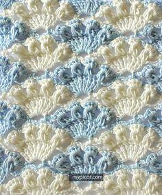 Fıstıklı Deniz Kabuğu Örgü Modeli Yapımı 13
