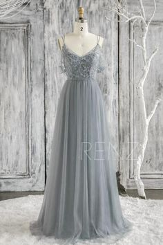 Bridesmaid Dress Dusty Blue Lace Wedding Dress Detachable Off Shoulder Sleeves Prom Dress Illusion Lace-up Back Tulle Formal Dress Dusty Blue Dress, Dusty Blue Bridesmaid Dresses, Blue Wedding Dresses, Lace Wedding, Dream Wedding, Prom Dresses With Sleeves, Grad Dresses, Formal Dresses, Illusion Dress