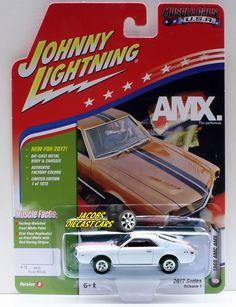 1:64  JOHNNY LIGHTNING MUSCLE CARS USA 2017 SERIES 1B - 1969 AMC AMX - FROST WHI #JohnnyLightning #AMC