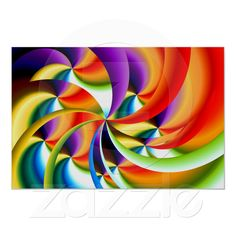 Colorful Abstract Design Poster