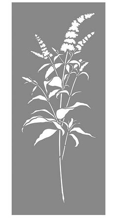 Buddleia Stem Stencil
