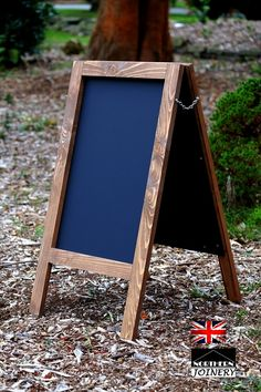 WATERPROOFED CHALKBOARD A BOARD FRAME BLACK BOARD SANDWICH PAVEMENT BOARD SIGN 800mm x 400mm: Amazon.co.uk: Kitchen & Home