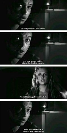 Finn and Clarke. You don't look at me like you used to.