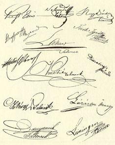Az aradi vértanúk aláírásai (kép)