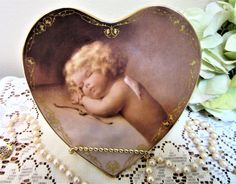 Angel Heart Plate Bradford Exchange Sweet Slumber Limited Edition Gift 1996 blm by PorcelainChinaArt on Etsy