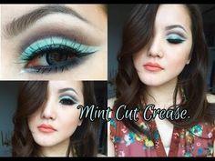 Mint Cut Crease Makeup Tutorial! #eyemakeup #blueliner - bellashoot.com